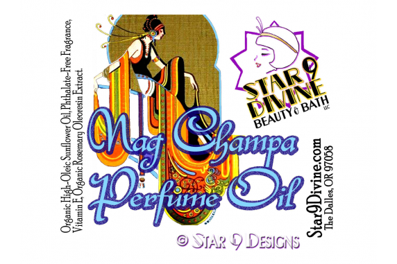 star 9 designs vintage perfume label